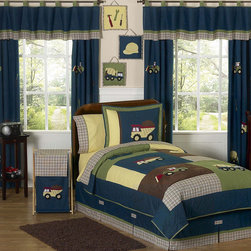 Sweet Jojo Designs - Sweet Jojo Designs Boy's 'Construction Zone' 4-piece Twin Comforter Set - The four-piece Construction Zone twin bedding set by Sweet Jojo Designs will construct the perfect look for your busy builder. This comfortable set is machine washable for easy cleanup with a handsome color combination.