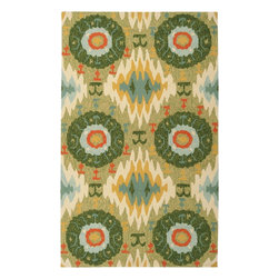 """Surya - Indoor/Outdoor Storm 3'3""""x5'3"""" Rectangle Fern Green Area Rug - The Storm area rug Collection offers an affordable assortment of Indoor/Outdoor stylings. Storm features a blend of natural Fern Green color. Hand Hooked of 100% Polypropylene the Storm Collection is an intriguing compliment to any decor."""