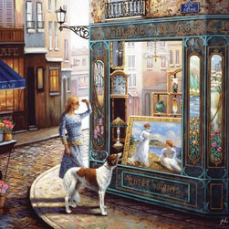Murals Your Way - Window Gazing Wall Art - Painted by John O'Brien, Window Gazing wall mural from Murals Your Way will add a distinctive touch to any room