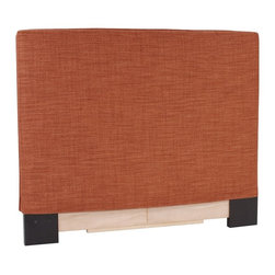 Howard Elliott - Coco Coral Twin Slipcovered Headboard - The Slip covered Headboard is constructed with a sturdy wood frame that is padded for maximum comfort, making it solid yet cozy. This piece features a soft burlap burnt orange cover.