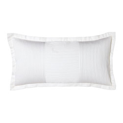 """Charisma - Isabella Pintucked Pillow 12"""" x 24"""" - WHITE - CharismaIsabella Pintucked Pillow 12"""" x 24""""Designer About Charisma:Charisma linens are known for an understated elegance with attention to detail and quality workmanship. The Charisma collection includes fine bedding and towels crafted from luxurious fabrics such as Egyptian cotton and Supima cotton for a truly soft touch that endures."""
