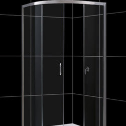 """DreamLine - DreamLine Solo Frameless Sliding Shower Enclosure and SlimLine 38"""" by - This kit combines a SOLO shower enclosure with a SlimLine shower base for a complete shower transformation. The SOLO quarter round shower enclosure opens up the look of a smaller bathroom. The sliding door creates a comfortably wide opening without claiming the space required for a swing door. A SlimLine shower base adds sleek modern look with low profile design. Choose a DreamLine shower kit for an efficient and cost effective bathroom renovation solution. Items included: Solo Shower Enclosure and 38 in. x 38 in. Quarter Round Shower TrayOverall kit dimensions: 38 in. D x 38 in. W x 74 3/4 in. HSolo Shower Enclosure:,  36 3/8 in. W x 36 3/8 in. D x 72 in. H ,  1/4 (6 mm) clear tempered glass,  Chrome hardware finish,  Frameless glass design,  Out-of-plumb installation adjustability: Up to 3/4 in. per side,  Anodized aluminum profiles and guide rails,  Designed to be installed against finished walls (not directly to studs),  Door opening: 17 3/4 in.,  Two stationary panels: 24 in. and 15 1/2 in.,  Reversible for right or left door opening installation,  Material: Tempered Glass, Aluminum,  Tempered glass ANSI certified38 in. x 38 in. Quarter Round Shower Tray:,  High quality scratch and stain resistant acrylic,  Slip-resistant textured floor for safe showering,  Integrated tile flange for easy installation and waterproofing,  Fiberglass reinforcement for durability,  cUPC certified,  Drain not includedProduct Warranty:,  Shower Enclosure: Limited 5 (five) year manufacturer warranty ,  Shower Base: Limited lifetime manufacturer warranty"""
