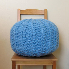 Extra large knit pouf - firm fill