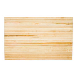 Hardware Resources - Lyn Design ISL01-TOP Wood Butcher Block Top - There are chopping blocks, and then there's this beauty. The butcher block is so big, you could use it as a raft. But you'll be happy to add this to your kitchen as your heavy duty butcher block for all your big meaty needs.