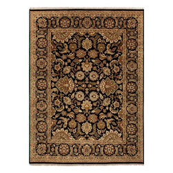 Jaipur Rugs - Hand-Knotted Oriental Pattern Wool Black/Tan Area  Rug, Black/Tan, 12x15, Taj - Jaipur 's most popular collection, Atlantis, merges traditional patterns with sophisticated and distinctive color stories rooted in blue, brown, ebony, gold, and red. Hand-knotted by master artisans, this stunning range boasts world-class hand-spun wool and an exceptional weave. Atlantis melds the classic beauty of hand-knotting with the palettes coveted by today's new traditionalist.