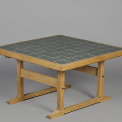 Jens Quistgaard Ceramic Square Coffee Table / or Side Table for Richard Nissen - Vintage 1960s Ceramic Tiled Table by Jens Quistgaard.