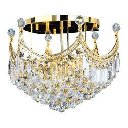 "Worldwide Lighting - Worldwide Lighting W33021G20 Empire 9 Light 20"" Flush Mount Ceiling Fixture in G - Specifications:"