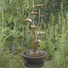 Contemporary Outdoor Fountains by Amazon