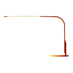 Pablo Designs - Lim 360 Table Task Lamp in Orange and Walnut - Features: