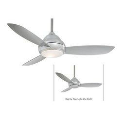 Minka Aire - Minka Aire Concept I 44 Ceiling Fan in Polished Nickel - Minka Aire Concept I 44 Model F516-PN in Polished Nickel with Silver Finished Blades.