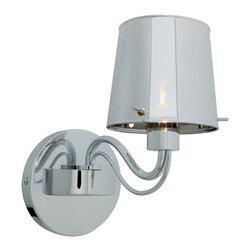 Access Lighting - Access Lighting 55530-CH/CHR Chromed Glass 1-Light Wall Fixture - Access Lighting 55530-CH/CHR Milano Chromed Glass 1-Light Wall Fixture