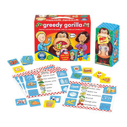 The Original Toy Company - The Original Toy Company Kids' Greedy Gorilla - Use the healthy food cards to create nutritous meals and place the junk food into the Gorilla's mouth to make him burp. Ages 4-8 years. 2-4 players. Made in England. Weight: 2 lbs.