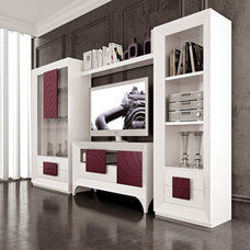 Contemporary Media Storage by Macral Design Corp