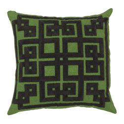 "Surya - Surya 18 x 18 Decorative Pillow, Peridot and Midnight Green (LD012-1818P) - Surya LD012-1818P 18"" x 18"" Decorative Pillow, Peridot and Midnight Green"