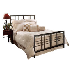Hillsdale Furniture - Hillsdale Tiburon Panel Bed - King - Modern and metropolitan, the Tiburon bed appeals to the more contemporary decor. With straight lines and sharp angles, this bed is sophisticated in its simplicity. Finished in a dazzling magnesium pewter, the Tiburon bed makes a strong statement.