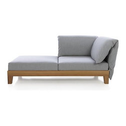 Party Right Arm/Left Arm Chaise Lounge - Paola Navone's Party furniture collection is dedicated to the pleasure of relaxing outdoors with friends. Everything is modular and easy to move, mix, change…whether you have a small group or a large crowd. Dream up your own arrangement with our large assortment of modular pieces.