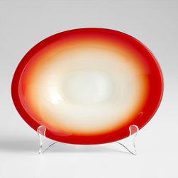 Cyan Design - Vermillion Dream Plate - Small - Small vermillion dream plate - red
