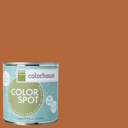 ColorSpot Eggshell Interior Paint Sample, Wood .02,  8-oz - Test color before you paint with the Colorhouse Colorspot 8-oz  paint sample. Made with real paint and in our most popular eggshell finish, Colorhouse paints are 100% acrylic with NO VOCs (volatile organic compounds), NO toxic fumes/HAPs-free, NO reproductive toxins, and NO chemical solvents. Our artist-crafted colors are designed to be easy backdrops for living.