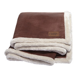 Kanata Blanket Co. - Kanata Country Lamb's Wool Throw, Chocolate - A best seller! This throw is reversible and self hemmed. Microfur reversed with super soft faux lambswool. This is not like sherpa; this is soft and silky; unlike real lambswool. A real treat! 100% polyester. Machine washable.