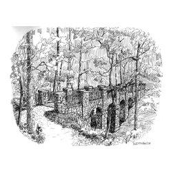 Rod Pittam - Deepdene Park: Long Bridge - Atlanta - Pen & Ink  11'' x 14''