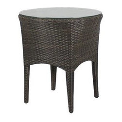 Source Outdoor Furniture - Source Outdoor Furniture St. Tropez 20 Round End Table - Since 2009 Source Outdoor has been committed to offering customers the finest in contemporary seating dining and lounging furniture for residential commercial and hospitality spaces. Source Outdoor Furniture company has rapidly expanded as they worked with retailers interior designers individual buyers and owners or operators of restaurants and hotels to design and build pieces tailored to fit any outdoor patio space. Source Outdoor are committed to anticipating voids trends and opportunities in the marketplace as they believe creativity and quality are the cornerstones of our success. In fact over half Source Outdoor Furniture products are currently manufactured in Miami by in-house skilled seamstresses and craftsmen. Not only are these products proudly made in America but Source Outdoor also have an advantage with increased year-round inventory and faster turnaround.