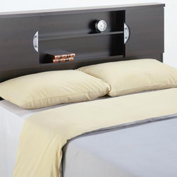 "Nexera - Headboard 54 inch or  60 inch  Bed in Espress - The 54"" / 60"" headboard is designed to fit with any standard metal bed frame (not included). Requires assembly. 64.25 in. W x 6.875 in. L x 43.75 in. H"