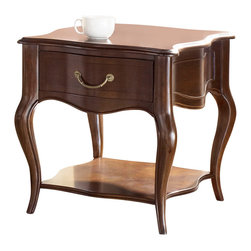 American Drew - American Drew Cherry Grove NG End Table in Brown - Cherry Grove New Generation line promises the same timeless quality and appeal with a full line of dining room, bedroom, home office, entertainment and occasional furniture. The line incorporates many elegant curves and graceful movement, and is updated with today's finishes, functionality and style. The inviting mid tone brown finish makes the cherry veneers pop on each piece, along with custom designed hardware. This line takes advantage of vertical space with higher case heights, and maximizes the utility of small spaces with hinged drop leaves on servers and tables. In combination, the collection takes functionality to a lifestyle level and allows urban or scaled-down living spaces to become entertainment areas, making small rooms work like big rooms. The New Generation of Cherry Grove is about honoring tradition while staying on trend.