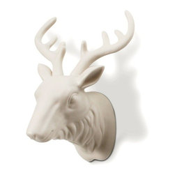 "Imm Living - Warden Key Holder - Never again spend another morning running late due to the ever present dialogue, ""where are my keys?"" This porcelain moose features majestic antlers that will hold your keys perfectly every time. The only thing you need to remember now is to put them on the hook in the first place."