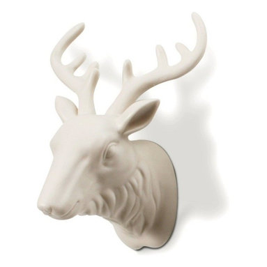 """Imm Living - Warden Key Holder - Never again spend another morning running late due to the ever present dialogue, """"where are my keys?"""" This porcelain moose features majestic antlers that will hold your keys perfectly every time. The only thing you need to remember now is to put them on the hook in the first place."""