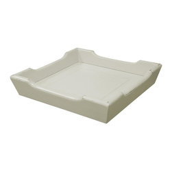 EuroLux Home - New Tray White/Cream Painted Hardwood Chedi - Product Details