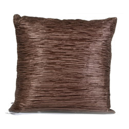 "Concepts Life - Concepts Life Hand Made Decorative Pillow  Tender Touch   Metallic Brown - These hand made pillows add shimmer, warmth, and texture to any space, and bring an accent of understated luxury to your home.  Hand-made Materials: Polyester cover with poly filler Spot clean Dimensions: 18""h x 18""w Weight: 1.5 lbs Pillow arrives in a vacuum sealed bag Once the pillow is aired and fluffed it will regain its full, soft and plump shape"