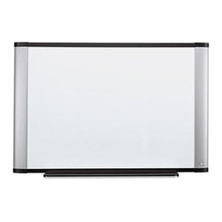 3M - 3M 48 x 36 in. Melamine Dry Erase Board - MMMM4836A - Shop for Dry Erase Boards from Hayneedle.com! The 3M 48 x 36 in. Melamine Dry Erase Board features a built-in tray that efficiently stores markers erasers and other board accessories. It s useful in hospitals offices training rooms or even classrooms. High quality dry erase melamine surface makes this board strong and durable. A smartly designed aluminum frame further adds to its visual appeal. Because of its Command Self Mounting System you can install the board easily on a wall.About United StationersDedicated to making life in the office more organized efficient and easier United Stationers offers a wide variety of storage and organizational solutions for any business setting. With premium products specifically designed with the modern office in mind we're certain you will find the solution you are looking for.From rolling file carts to stationary wall files every product in the United Stations line is designed with one simple goal: to improve office efficiency. In turn you will find increased productivity happier more organized employees and an office setting that simply runs better with the ultimate goal of increasing bottom line profits.