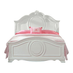 Standard Furniture - Standard Furniture Jessica 2 Piece Kids' Panel Bedroom Set in White - Charming and inviting,Jessica's delightful details will lend a lovely Victorian cottage ambiance to every young ladyóÇÖs bedroom space.