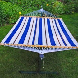 Algoma Imported 11' Fabric Hammock and Stand Combination - Dimensions: (D x W) in inches: 80 x 55