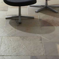 Sandstone Flooring - Sandstone is a metamorphic rock that lends itself well to flooring. The wild color variations of other stones aren't as prevalent with sandstone, and it's easier to find consistent tones with this material.