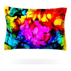 "Kess InHouse - Claire Day ""Sweet Sour"" Pillow Sham (Cotton, 30"" x 20"") - Pairing your already chic duvet cover with playful pillow shams is the perfect way to tie your bedroom together. There are endless possibilities to feed your artistic palette with these imaginative pillow shams. It will looks so elegant you won't want ruin the masterpiece you have created when you go to bed. Not only are these pillow shams nice to look at they are also made from a high quality cotton blend. They are so soft that they will elevate your sleep up to level that is beyond Cloud 9. We always print our goods with the highest quality printing process in order to maintain the integrity of the art that you are adeptly displaying. This means that you won't have to worry about your art fading or your sham loosing it's freshness."