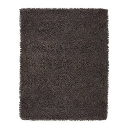Anji Mountain - Graphite Silky Shag Rug - 9' x 12' - Softer and silkier than traditional shag rugs made from wool or synthetic fibers. Uniquely luxuriant look and feel due to custom specified blended yarn (50% rayon made from bamboo, 50% cotton).
