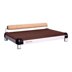 DoggySnooze - snoozeSleeper, 1 Bolster Sand - Let your canine companion snooze in style on this modern dog bed. Elevated for extra comfort, with a supportive bolster you can coordinate with your decor. Made in the USA.