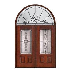 """Prehung Transom Double Door 80 Fiberglass Marsais Arch Lite Glass - SKU#MCT06395_DFAMS2-HRUBrandGlassCraftDoor TypeExteriorManufacturer CollectionArch Lite Entry DoorsDoor ModelMarsaisDoor MaterialFiberglassWoodgrainVeneerPrice4425Door Size Options2(36"""")[6'-0""""]  $0Core TypeDoor StyleDoor Lite StyleArch LiteDoor Panel Style2 PanelHome Style MatchingDoor ConstructionPrehanging OptionsPrehungPrehung ConfigurationDouble Door and Half Round TransomDoor Thickness (Inches)1.75Glass Thickness (Inches)Glass TypeDouble GlazedGlass CamingBlackGlass FeaturesTempered glassGlass StyleGlass TextureGlass ObscurityDoor FeaturesDoor ApprovalsEnergy Star , TCEQ , Wind-load Rated , AMD , NFRC-IG , IRC , NFRC-Safety GlassDoor FinishesDoor AccessoriesWeight (lbs)876Crating Size36"""" (w)x 108"""" (l)x 89"""" (h)Lead TimeSlab Doors: 7 Business DaysPrehung:14 Business DaysPrefinished, PreHung:21 Business DaysWarrantyFive (5) years limited warranty for the Fiberglass FinishThree (3) years limited warranty for MasterGrain Door Panel"""