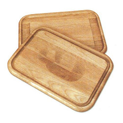 """Catskill - Reversible Grain Cutting Board Multicolor - 1314 - Shop for Cutting Boards from Hayneedle.com! The Reversible Grain Cutting Board is a versatile professional cutting board for your kitchen needs. One side of this cutting board features a """"holding wedge""""- a slim groove that runs around the edges of the board and grips your poultry or roast to keep it from sliding off the board while you carve. The reverse side of the board has a deep wide moat around all four sides ideal for catching juices and keeping them off the counter or for storing spices and garnishes while you prepare your food. The Reversible Grain Cutting Board is made from oil-finished natural yellow birch hardwood which is indigenous to the Northeastern U.S. and ranges in color from blond to a darker walnut shade; the natural variation in color allows this board to coordinate with your existing decor. Available in your choice of sizes.Catskill Craftsmen's Eco-friendly PracticesCatskill Craftsmen is committed to protecting the environment through responsible forest management and manufacturing practices. Located in the Catskill Mountains of upper state New York Catskill Craftsmen plays a role in maintaining the health of the New York City watershed. This watershed provides clean water for New York City and other communities in the area. Healthy well-managed forests are better able to filter pollutants from entering streams and rivers which preserves the quality of watershed resources. With this goal in mind the company supports the efforts of the Watershed Agricultural Council (WAC). With the WAC Catskill Craftsmen encourages lumber suppliers (family forest owners and public land managers) to make wise harvesting decisions and control erosion in order to safeguard water quality.Other efforts to protect the environment include using sustainable wood sources and reducing wood waste. Catskill Craftsmen's manufactured items are made from naturally self-sustaining non-endangered North American hardwo"""