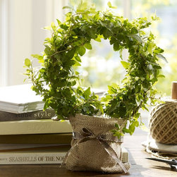 Live Ivy Topiary - I was surprised to see that Pottery Barn is selling live plants now. This ivy topiary is right up my alley — a way to bring the feeling of a garden indoors.