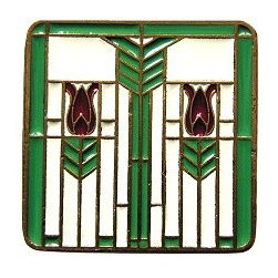 Prairie Tulip Knob Spring Green - Prairie Tulips Knob in Spring Green Enameling. Also comes in Antique Brass, Antique Pewter, and Enameled Evergreen