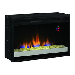 "Classic Flame - Classic Flame 26"" Contemporary Electric Fireplace Insert in Black - Classic Flame - Fireplace Inserts - 26EF023GRG"