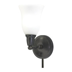 House of Troy - House of Troy HP775-OG Hyde Park Oil Rubbed Bronze Wall Sconce - House of Troy HP775-OB-OG Hyde Park Oil Rubbed Bronze Wall Sconce