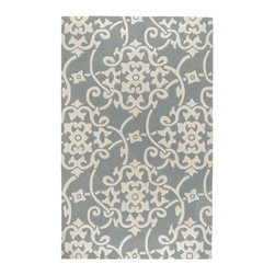 Surya - Surya Cosmopolitan COS-8828 (Silver Gray, White) 5' x 8' Rug - Hand tufted from 100% poly-acrylic fibers, these economical rugs come in designs inspired by high-fashion and abstract art. Contemporary and transitional themes are seen throughout the collection and make for a diverse group of rugs that can be utilized in a number of different types of rooms.