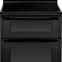 """GE - JB850DFBB 30"""" 6.6 cu. ft. Capacity Free-Standing Electric Double Oven Range With - The GE JB850 30 in 66 cu ft Electric Range with dual Self Cleaning ovens in Stainless Steel features Digital Temperature Display along with electronic touch pad and burner controlling knobs A Power Boil dual choice burner with 9 in and 6 in capabilit..."""
