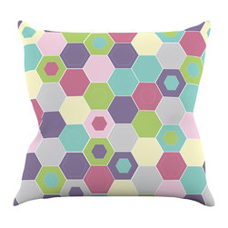 "Kess InHouse - Nicole Ketchum ""Pale Bee Hex."" Throw Pillow (16"" x 16"") - Rest among the art you love. Transform your hang out room into a hip gallery, that's also comfortable. With this pillow you can create an environment that reflects your unique style. It's amazing what a throw pillow can do to complete a room. (Kess InHouse is not responsible for pillow fighting that may occur as the result of creative stimulation)."