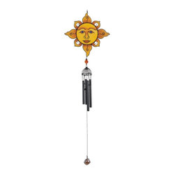 GSC - Wind Chime with Black Coated Gems Sun Face Hanging Garden Decoration - This gorgeous Wind Chime with Black Coated Gems Sun Face Hanging Garden Decoration has the finest details and highest quality you will find anywhere! Wind Chime with Black Coated Gems Sun Face Hanging Garden Decoration is truly remarkable.