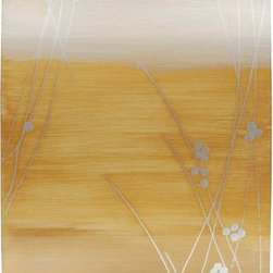 Paragon Decor - Golden Grasses II Artwork - Exclusive Reverse Hand Painted on Convex Acrylic with Metal