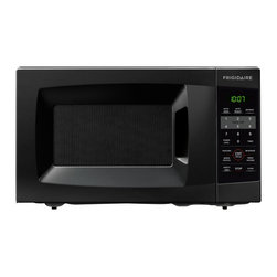 Frigidaire - Frigidaire 0.7 Cu. Ft. Black Countertop Microwave - Whip up a batch of popcorn or reheat leftovers in a flash with this black countertop microwave. Featuring a glass turntable place and one-touch features,this microwave is easy to use. The 10 power levels allow you to cook a wide range of foods.